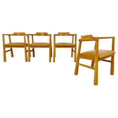 Rustic Modern Brandt Ranch Oak Dining Chairs, Set of 4