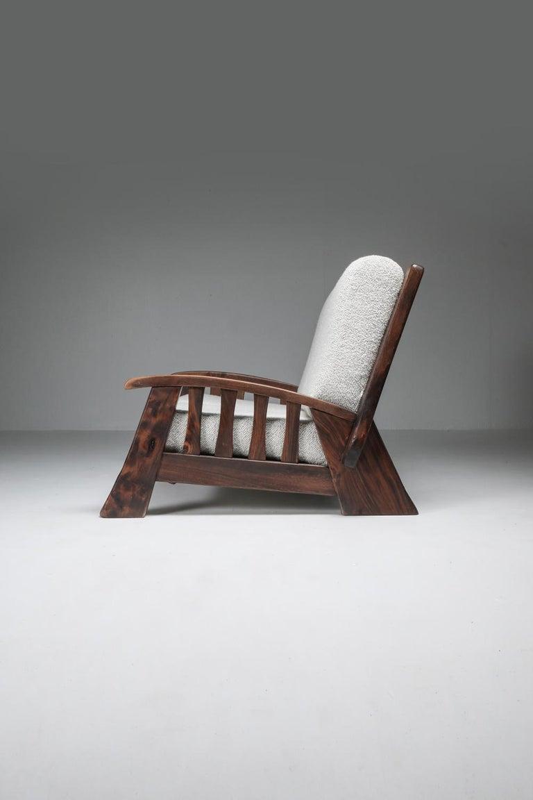Rustic Modern 'Chalet' Sofa with Pierre Frey Bouclé For Sale 7