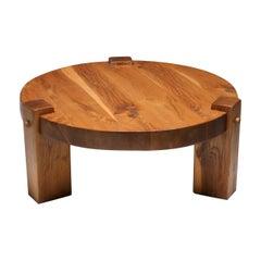 Rustic Modern Coffee Table in Solid Oak
