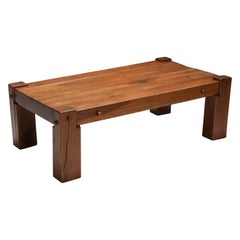 Rustic Modern Coffee Table in Solid Oak