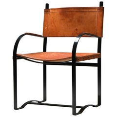 Rustic Modern Cognac Leather Chair