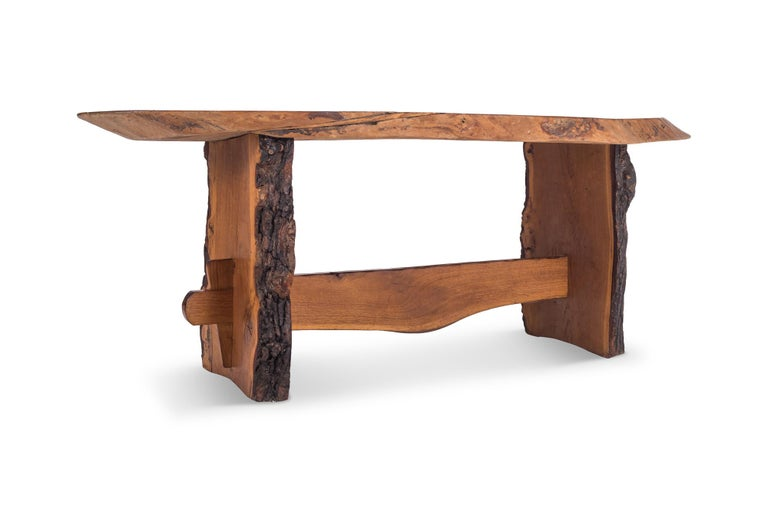 American Rustic Modern Dining Table in Solid Wood For Sale