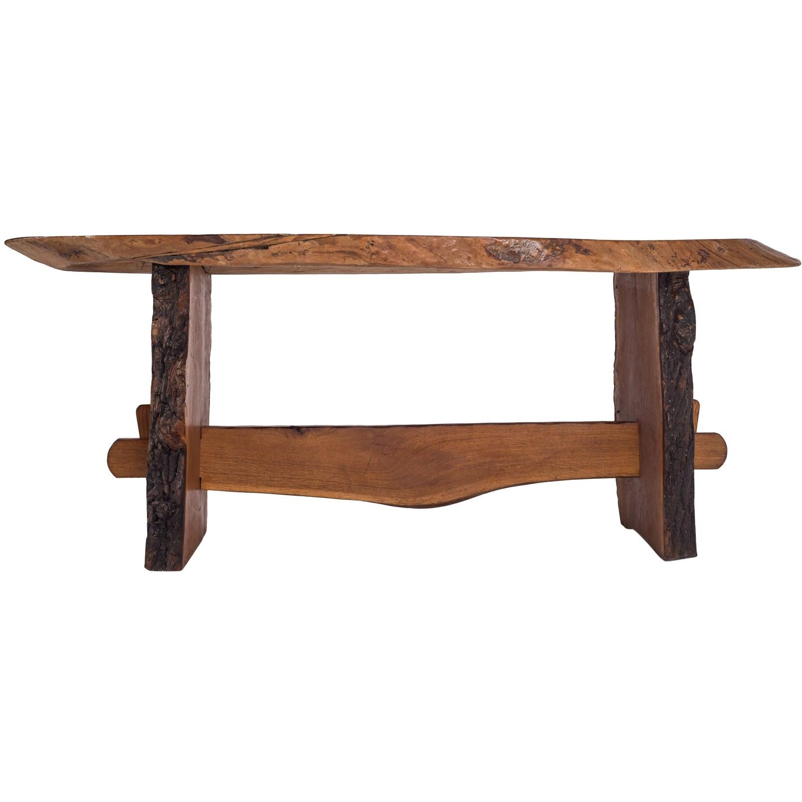 Rustic Modern Dining Table in Solid Wood