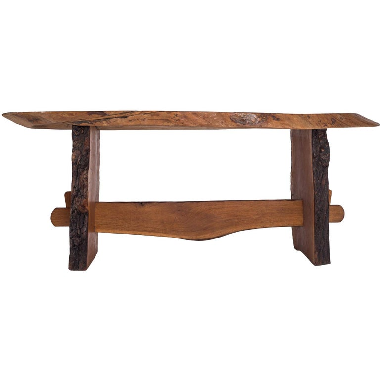Rustic Modern Dining Table in Solid Wood For Sale