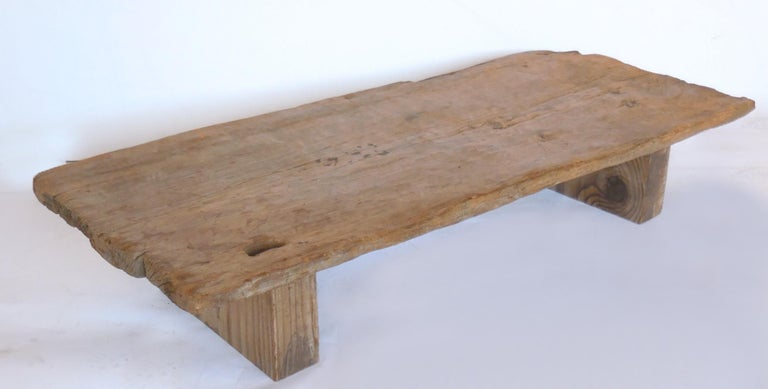 Rustic Modern Low Coffee Table In Good Condition In Los Angeles, CA