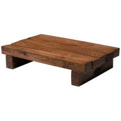 Rustic Modern Rectangular Coffee Table in Solid Oak