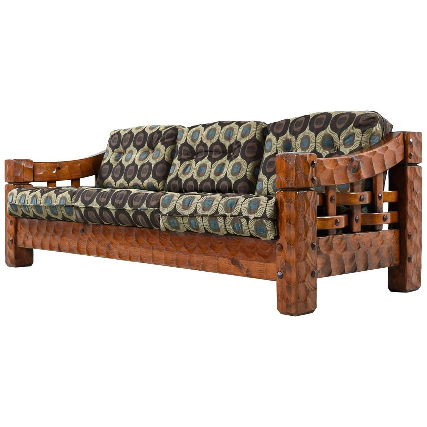 Incredible Rustic Modern Solid Pine Sofa Couch By Null Mfg At 1Stdibs Camellatalisay Diy Chair Ideas Camellatalisaycom