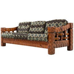 Rustic Modern Solid Pine Sofa Couch by Null Mfg