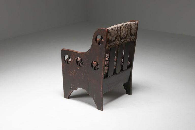 Swedish Rustic Modernist Armchair For Sale