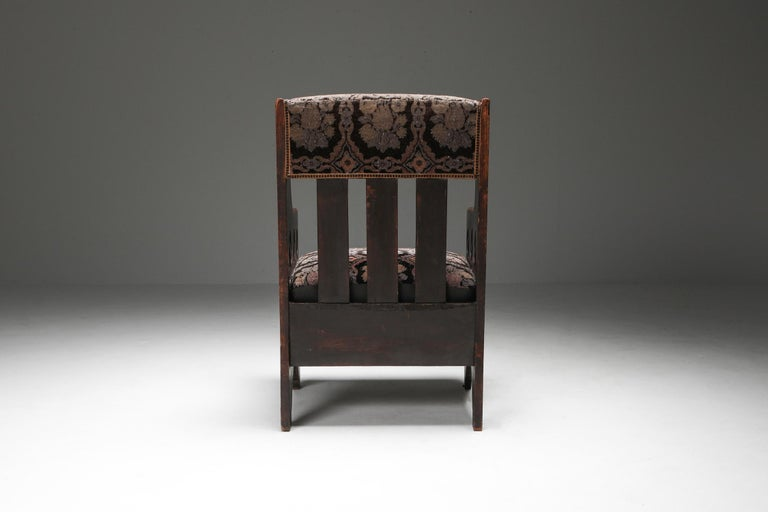 Rustic Modernist Armchair In Good Condition For Sale In Antwerp, BE