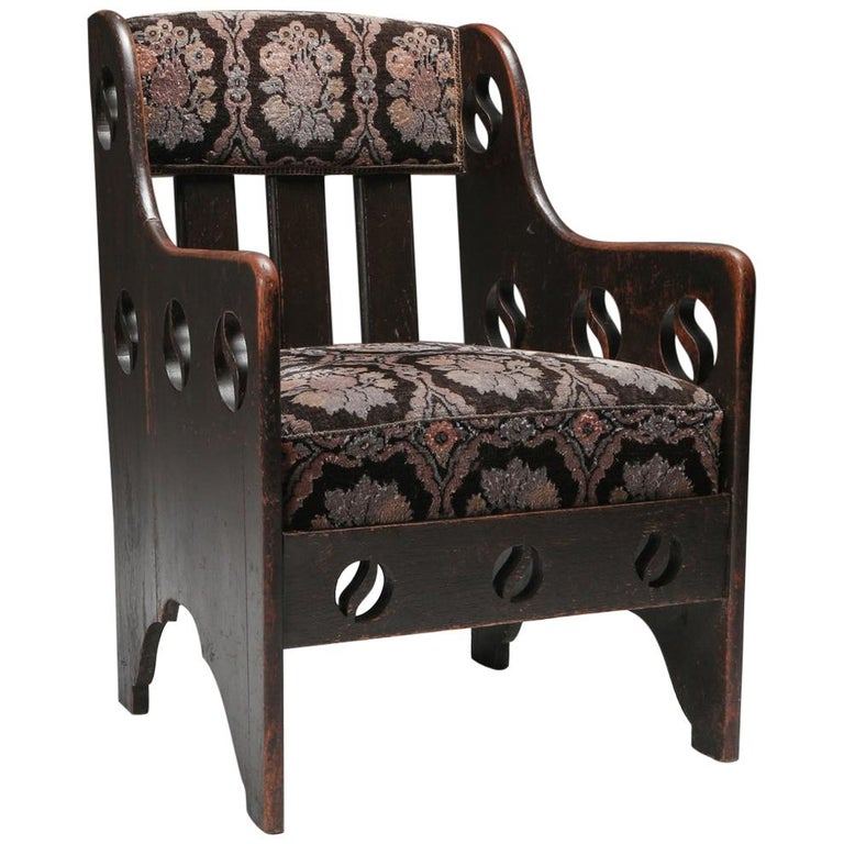 Rustic Modernist Armchair For Sale