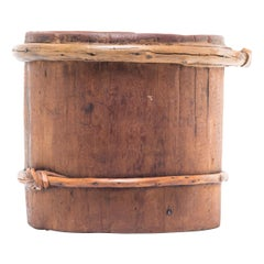 Rustic Mongolian Forever Knot Grain Container