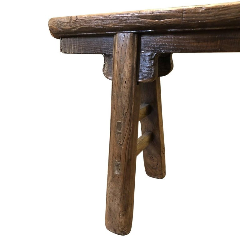 Rustic Narrow Bench, Chinese For Sale 2