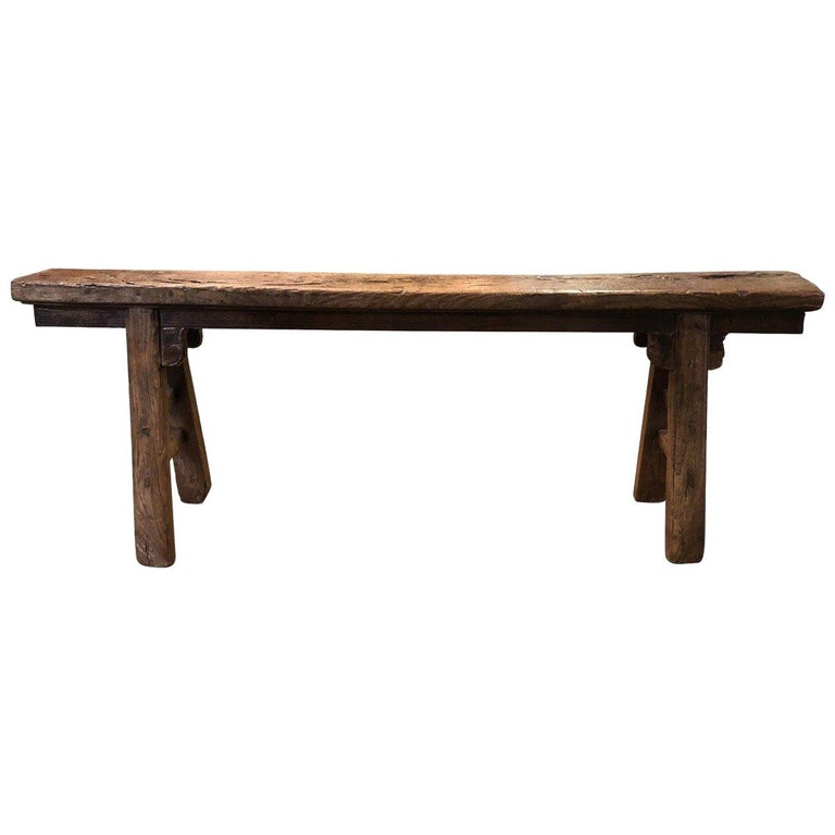 Rustic Narrow Bench, Chinese For Sale