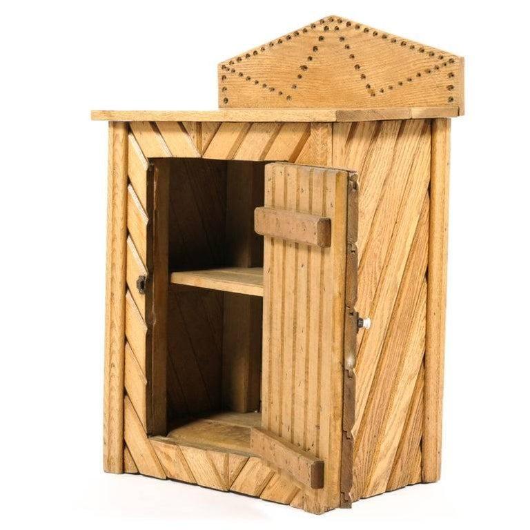 Canadian Rustic Oak Cabinet For Sale