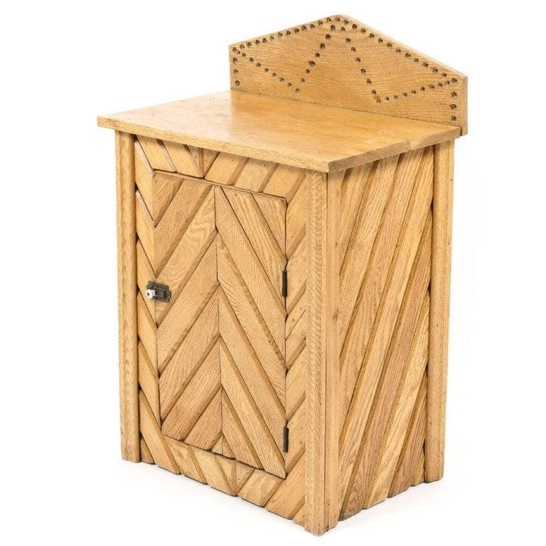 Rustic Oak Cabinet For Sale