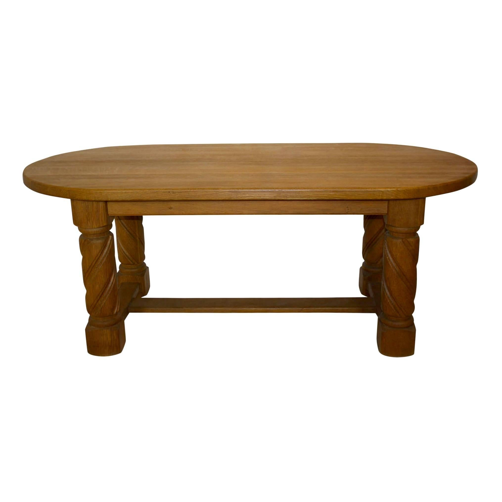 Rustic Oak Dining Table, circa 1920