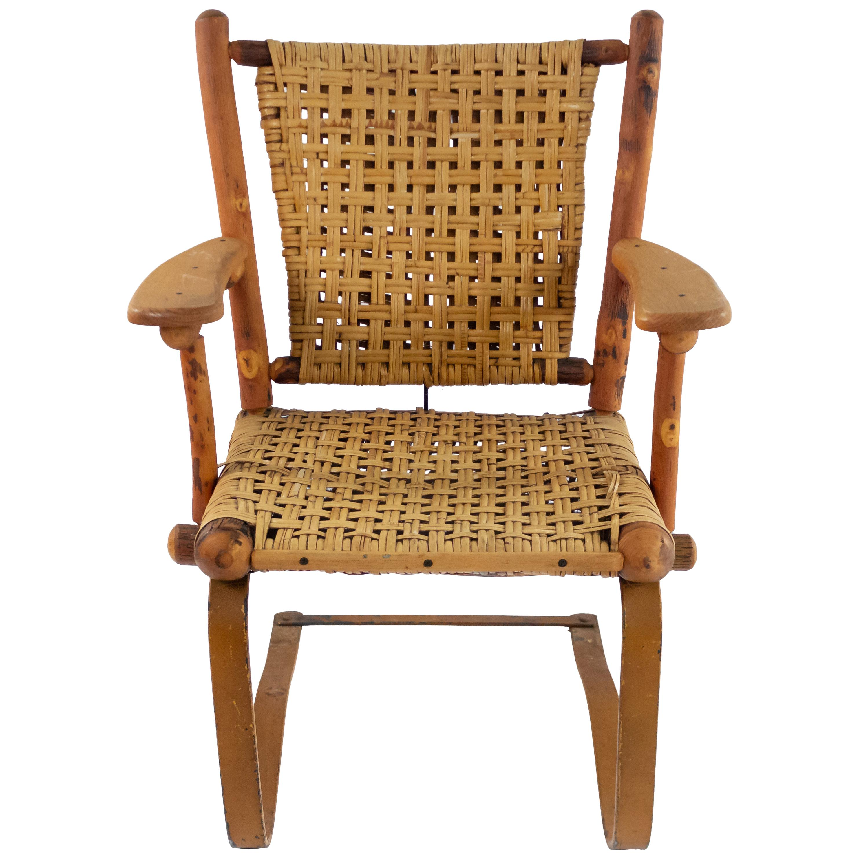 Rustic Old Hickory Bounce Chair