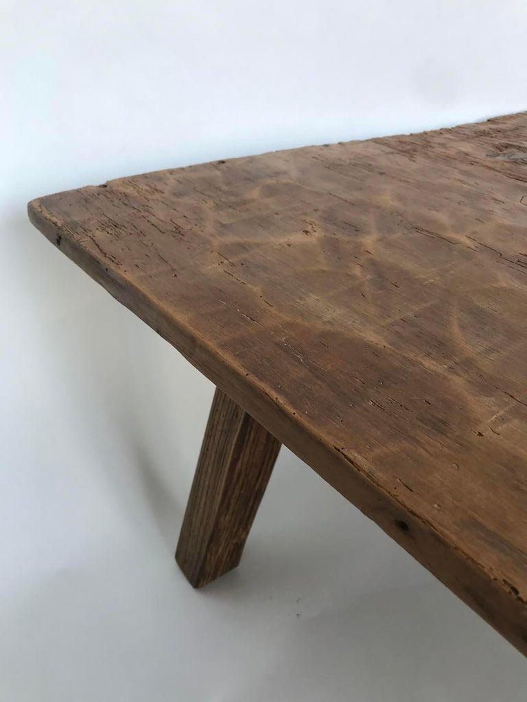 Rustic One Wide Plank Coffee Table For Sale 1