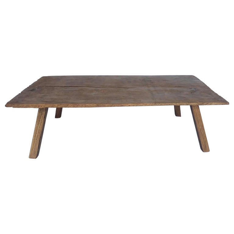 Rustic One Wide Plank Coffee Table For Sale