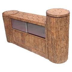 Rustic Organic Modern Credenza in Bark