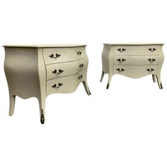 Rustic Painted Bomb'e Commodes