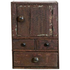 Rustic Painted Box Cupboard