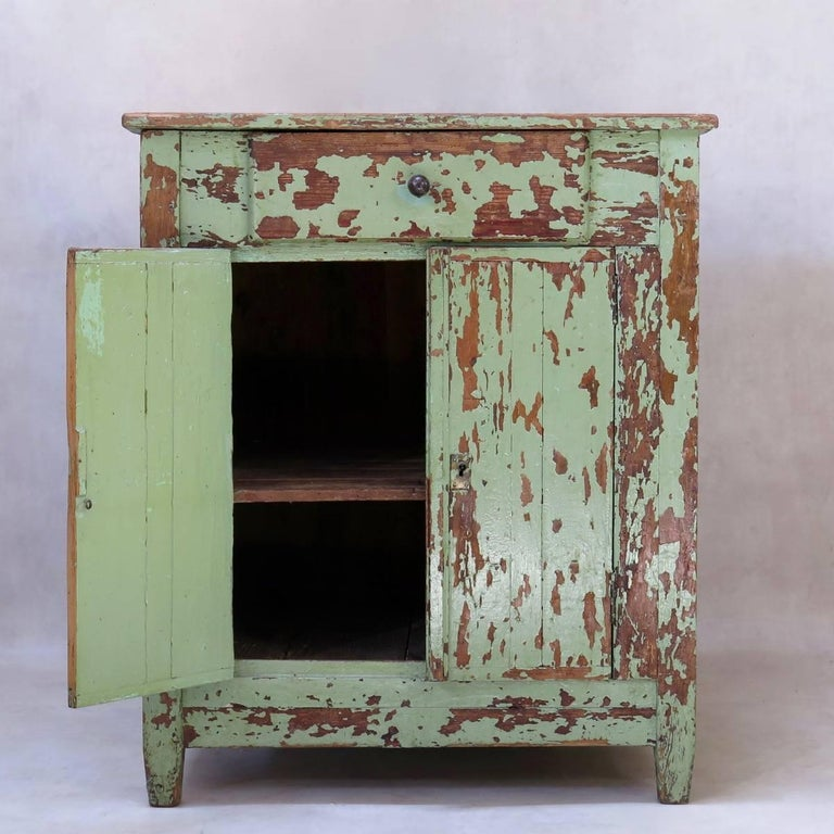 French Rustic Painted Cabinet, France, circa 1920s For Sale