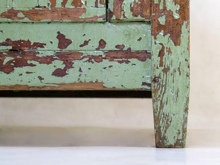 Pine Rustic Painted Cabinet, France, circa 1920s For Sale