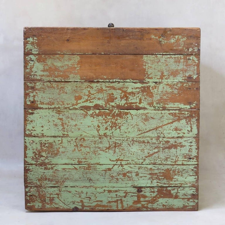 Rustic Painted Cabinet, France, circa 1920s For Sale 1