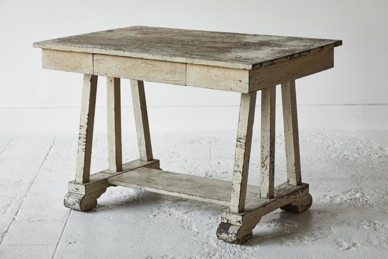 Rustic Painted Desk In Good Condition For Sale In Los Angeles, CA