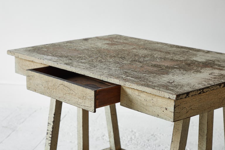 20th Century Rustic Painted Desk For Sale