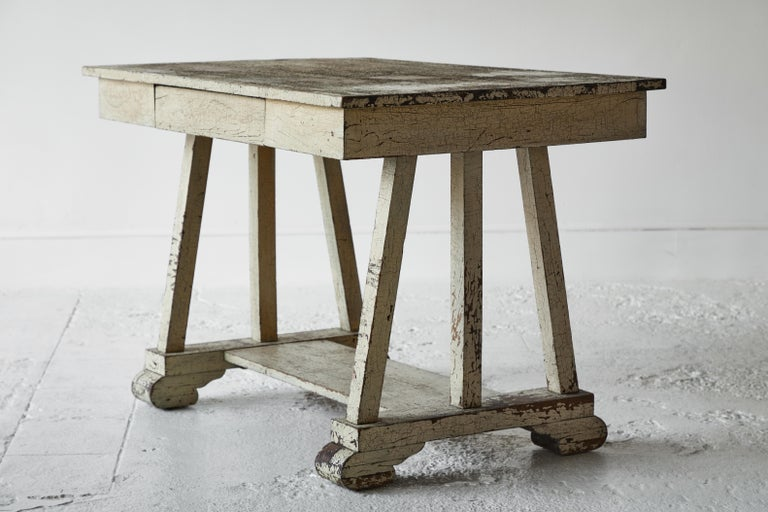 Rustic Painted Desk For Sale 1