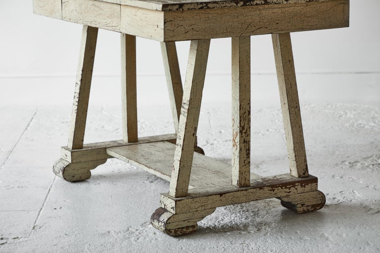 Rustic Painted Desk For Sale 2