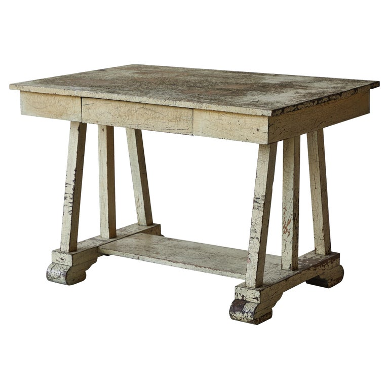 Rustic Painted Desk For Sale