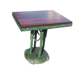 Rustic Painted Iron Cafe Table