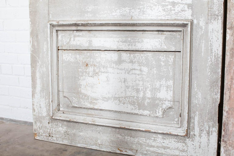 Rustic Pair of 19th Century French Painted Panel Doors For Sale 7