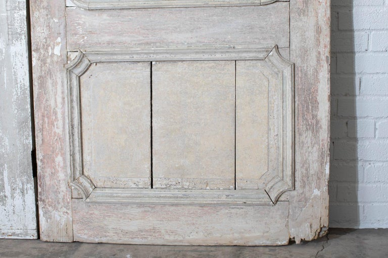 Rustic Pair of 19th Century French Painted Panel Doors For Sale 8