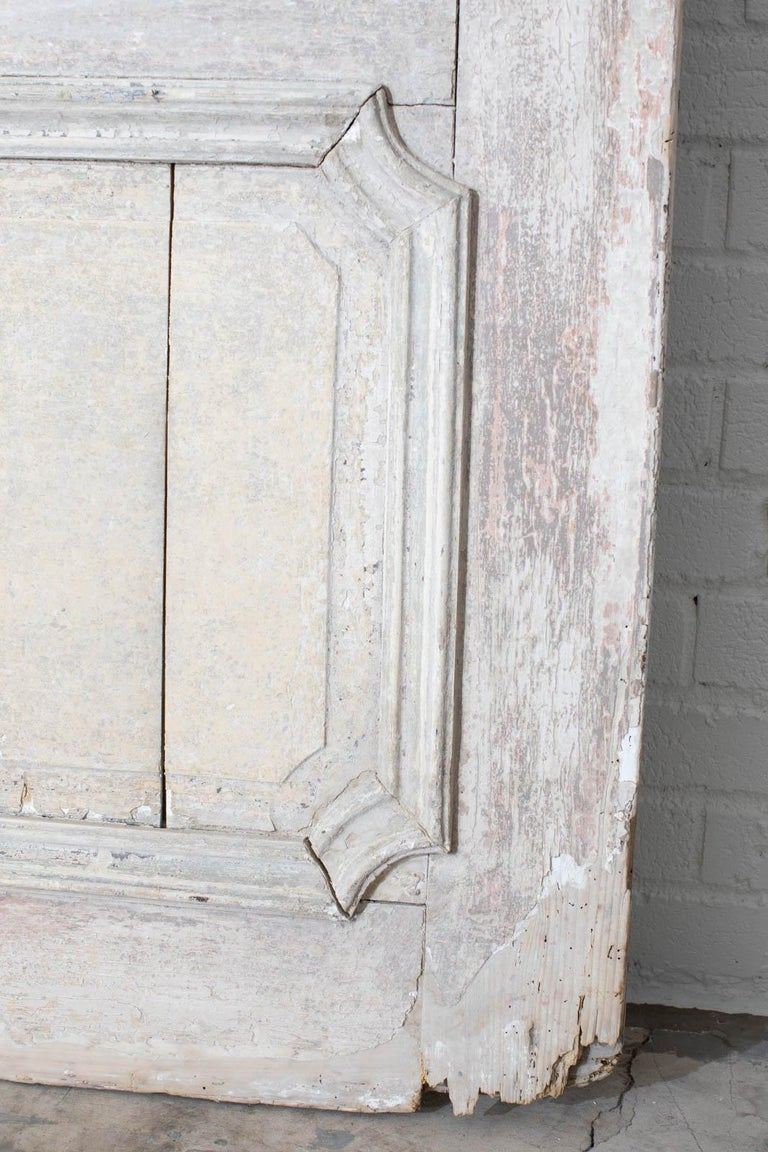 Rustic Pair of 19th Century French Painted Panel Doors For Sale 9