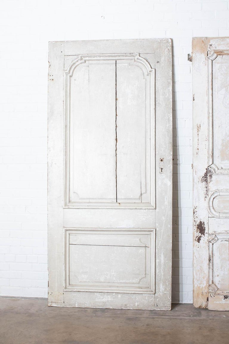 Rustic Pair of 19th Century French Painted Panel Doors For Sale 15