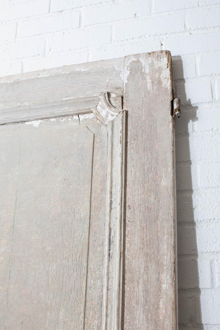 Rustic Pair of 19th Century French Painted Panel Doors For Sale 3