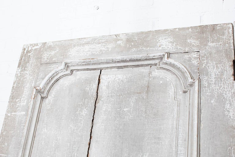 Rustic Pair of 19th Century French Painted Panel Doors For Sale 5