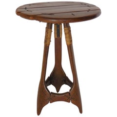 Rustic Palm Wood Side Table