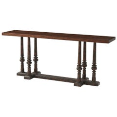 Rustic Parquetry Console Table