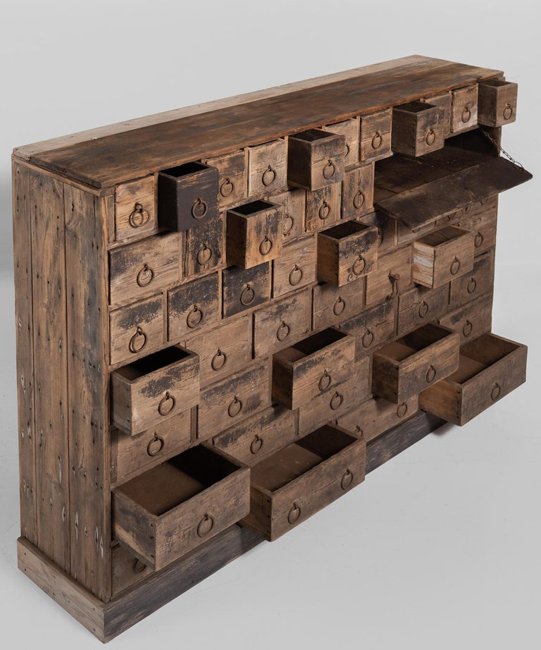 Rustic Pine Bank of Drawers, England, circa 1870 4