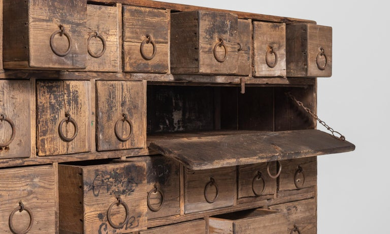 Rustic Pine Bank of Drawers, England, circa 1870 5