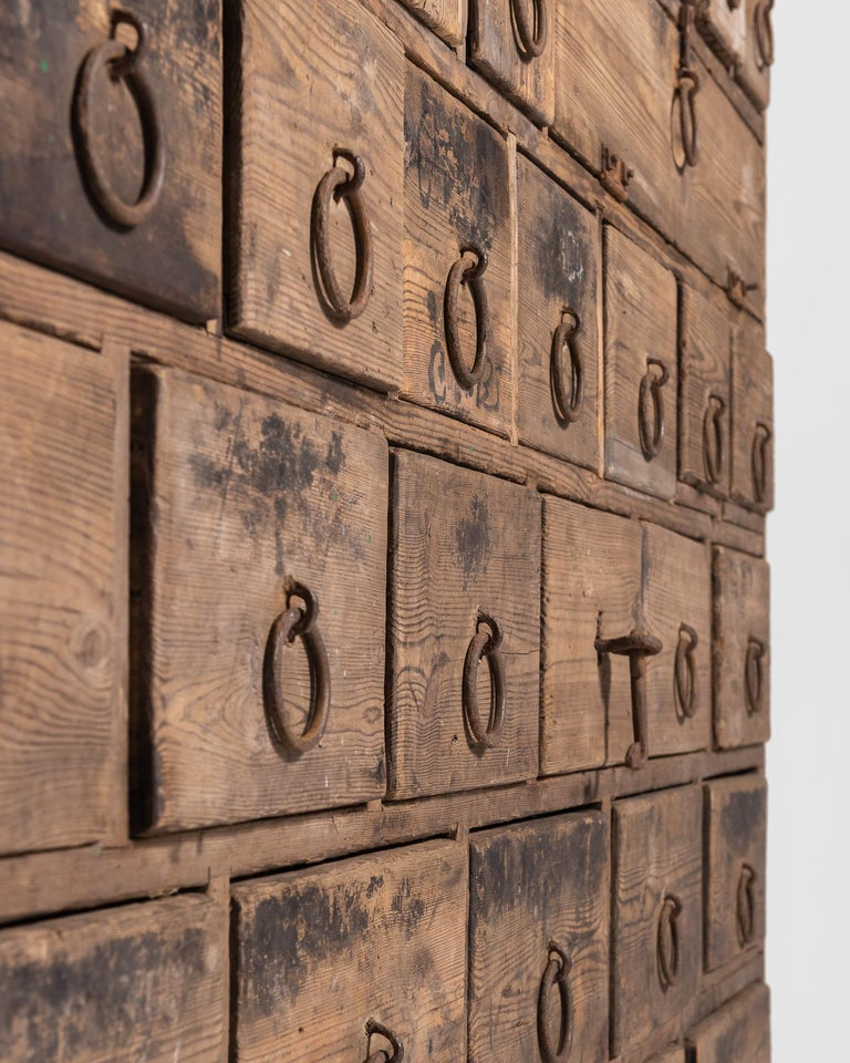 Rustic Pine Bank of Drawers, England, circa 1870 6