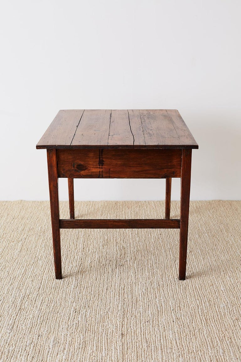 Rustic Pine Farmhouse Work Table or Desk For Sale at 1stdibs