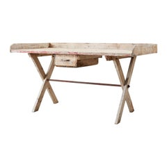 Rustic Pine Work Table or Gardening Table