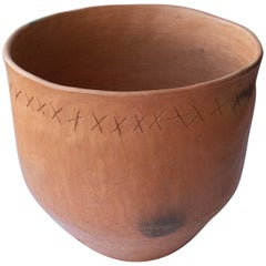 Rustic Pot Mexican Terracotta Natural Clay Handmade in Oaxaca Ceramic Vessel